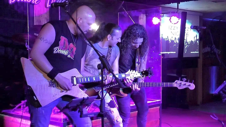 George Iliou, George Theodorou and Bairam Bedele @ The Izzy Dizzy band • Double Deuce Live Stage